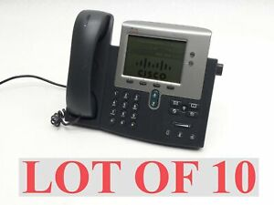 Lot 10 Cisco 7941 Charcoal Voip Ip Business Office Phone Telephone Cp 7941g