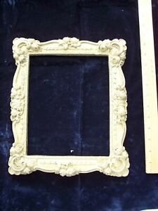 Vintage Victorian 1800 S Aesthetic Gilt Gesso Gold Wood Picture Frame Fits 8x10