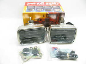 Nos Vintage Grote 6402m Per Lux 600 Series Clear Fog Light Louvered Pair