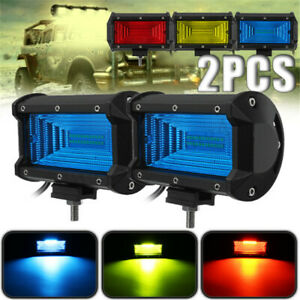 2x 5 Inch 144w Led Work Light Bar Spot Beam Driving Fog Lamp Car Offroad 4wd Suv
