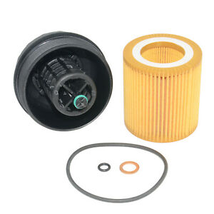 Oe Quality New Oil Filter Housing Cover Cap With Filter For Bmw Hu816x