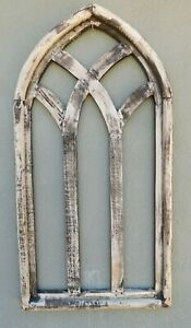 Wooden Antique Style Church Window Frame Primitive Wood Gothic 32 1 4 Shabby