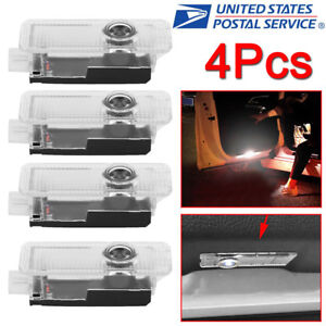 4pcs Led Laser Projector Bmw Logo Light Door Courtesy Welcome Ghost Shadow Lamp
