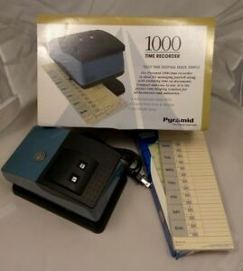 Pyramid Time Systems Time Recorder 1000 Clock W Time Cards