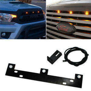 Led Grill Grille Lights Kit Lamps Bar W Mounting Bracket For 2009 up Ford F150