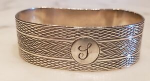 Sterling Silver Napkin Ring Chester 1932 D Shaped D Ring