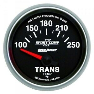 Autometer Sport Comp Ii Transmission Temperature Gauge 100 250 F 3649