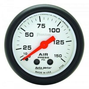 Autometer Phantom Series Air Pressure Gauge 0 150 Psi 5720