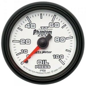 Autometer Phantom Ii Series Oil Pressure Gauge 0 100 Psi 7521