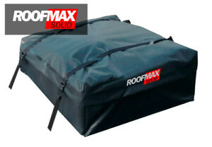 Roofmax Solid Waterproof Roof Cargo Bag Carrier Fits All Cars 15cf Straps Mat