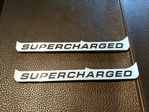 2015 And Up Ford Mustang supercharged Fender Badge