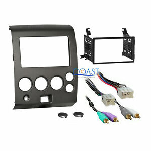 Car Stereo Dash Kit Amplified Harness For 04 07 Nissan Armada Titan W O Climate