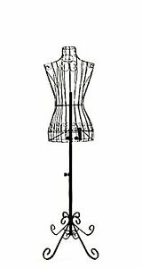 Female Black Steel Wire Mannequin Dress Form 32 22 32 On Decorative Stand 00