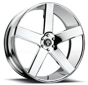 One 30x10 Dub Baller S115 5x5 5x127 10 Chrome Wheels Rims