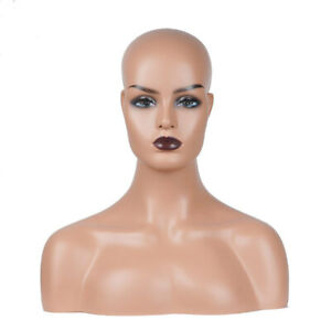 New Realistic Mannequin Head Display Fiberglass Hat Glasses Mold Stand Wig No 40