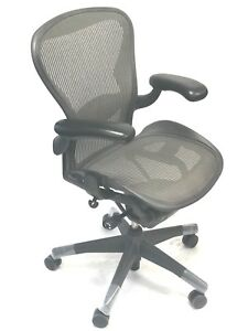 Aeron Fully loaded Lumbar Support Size B 3d13 Silver By Herman Miller