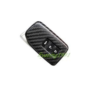 Black Carbon Fiber Remote Key Case Fob Shell Key Cover For Lexus Rx350 450 16 19