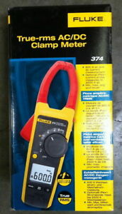 Fluke 374 True rms Ac dc Clamp Meter New In Box Msrp 375