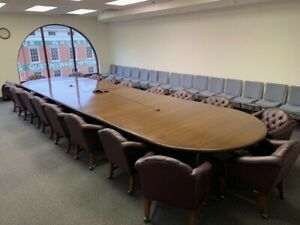 Custom Solid Walnut Conference Table