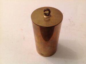 Antique Vienna Style Clock Weight Lead Filled Brass Tube 514g 65x32mm Overall
