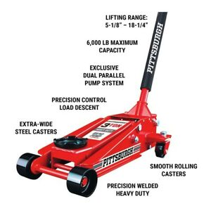 3 Ton Steel Heavy Duty Floor Jack W rapid Pump Great For Shop garage home Use