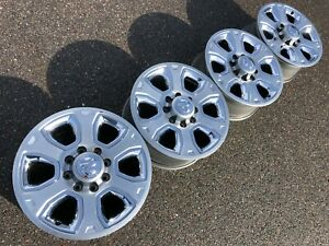 20 Dodge Ram 2500 Laramie Oem Factory Stock Chrome Wheels Rims 8x165 Longhorn