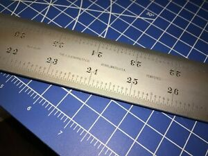 Price Reduced Starrett Steel Rule 48 Inch C416r 48 Free Shipping