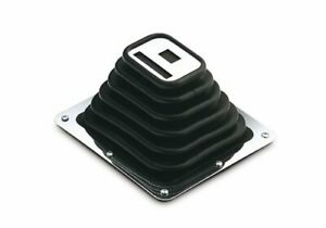 Hurst Shifter Boot And Plate Super Shifter 3 Black Rubber Chrome Plated