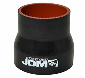 Black Universal 2 To 2 5 Reducer Straight Coupler Hose Pipe Silicone Reinforce