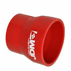 Red Universal 2 To 2 5 Reducer Straight Coupler Hose Pipe Silicone Reinforce