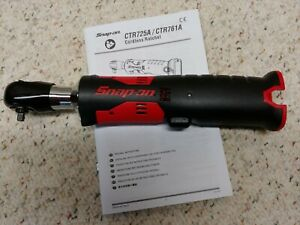 Snap On Ctr725 1 4 Drive Microlithium Cordless Ratchet 14 4 Volt Tool Only New