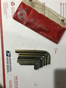 Snap On C15b 9pc Allen Metric Wrench Set Plus Case U S A
