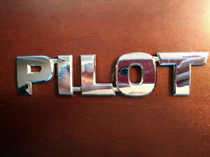 03 04 05 06 07 08 Honda Pilot Rear Gate Lid Chrome Emblem Logo Badge Sign Oem