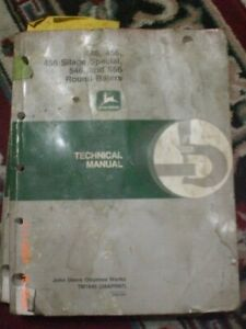 John Deere 446 456 456 Silage Special 546 556 Round Balers Tech Manual box649