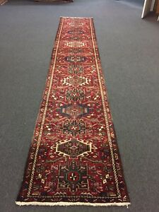3x15ft Sale Hand Knotted Persian Gharajeh Geometric Rug Carpet Runner 2 7 X14 9