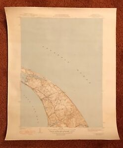 Vintage Map Of Cape Cod Bay Ma 1940 S United States Geological Survey