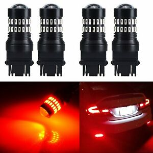2pair Pure Red 3157 48 smd Led Light Bulbs Brake Tail Stop Lights 3457 3057 3528
