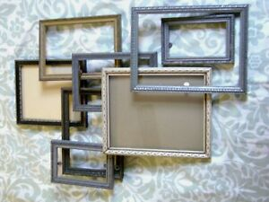 Lot 8 Antique Vintage 1920 40 S Art Deco Gray Silver Other Wood Picture Frame