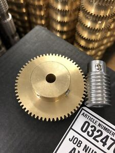 Matching Bronze Worm Gear Set 60 1 Ratio 32 Pitch 1 4 Bore From Boston Ma Look