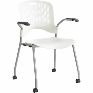 Mayline Safco Sassy Stack Chairs 1 Pair White Model 4183wh