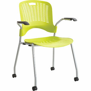 Mayline Safco Sassy Stack Chairs 1 Pair Green Model 4183gs