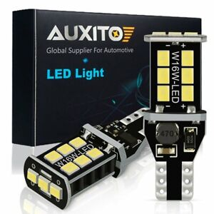 2x 15smd T15 W16w 912 921 192 Led Canbus White Backup Reverse Light For Toyota