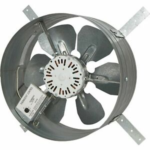 Strongway 14in gable Exhaust Fan 1 16hp 1200cfm w thermostat for 1800sqft attic