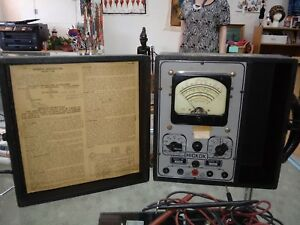 Vintage 1930 s Hickok Volt ohm milliamp re meter 133b Orig Box Instructions