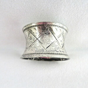 Vintage Silver Plated Napkin Ring No Monogram