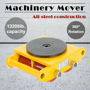 Industrial Machinery Mover With 360 rotation Cap 13200lbs 6t Swivel Top