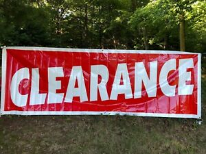 Retail Advertising clearance Sale Banner Sign With Grommets 12 X 4 New