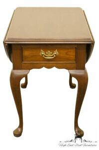 Stickley Furniture Solid Cherry Queen Anne Style Anniversary Drop Leaf End Table