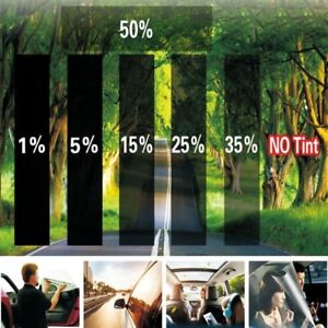 2ply 20 X 10ft 15 Vlt Black Gray Car Glass Window Tint Film Fashion Vinyl Roll