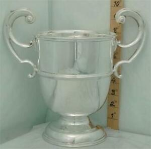265 Antique Irish Sterling Silver Trophy Loving Cup Good Size Not Inscribed